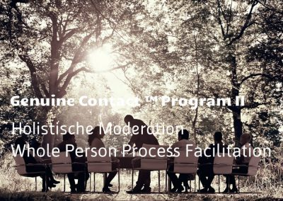 Genuine Contact™ II: Holistische Moderation – 1. – 3. Oktober 2018